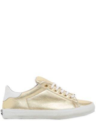 20mm Metallic Leather Sneakers (goud)
