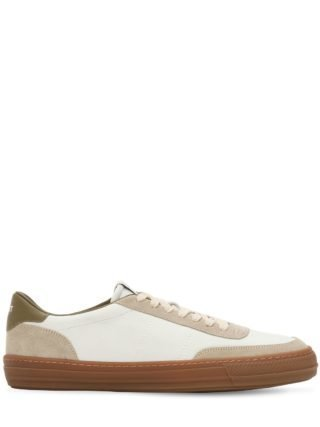 Leather Low Top Sneakers (wit)