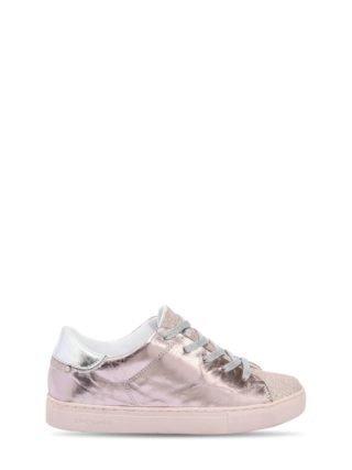 Metallic Leather Sneakers (roze)