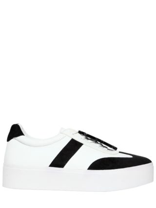 40mm Payton Leather & Suede Sneakers (wit/zwart)
