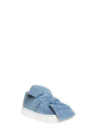 Glittered Suede Slip-on Sneakers (blauw)