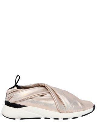 30mm Stretch Satin Slip-on Sneakers (goud)