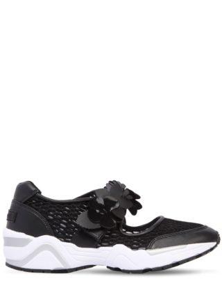 40mm Flower Strap Mesh Sneakers (zwart)