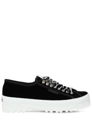 Superga 40mm Velvet Sneakers (zwart)