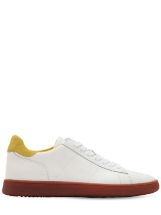 Leather Low Top Sneakers (wit/geel)