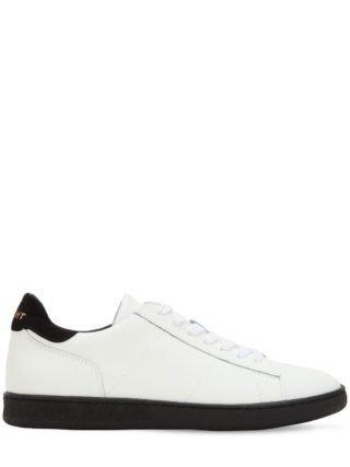 Leather Low Top Sneakers (wit/zwart)