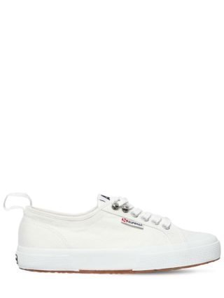 Superga 20mm Cotton Canvas Sneakers (wit)