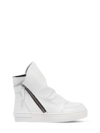 Leather High Top Sneakers (wit)