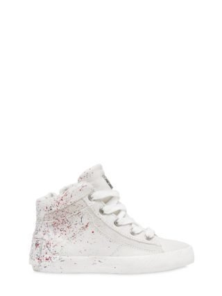 Paint Splatter Nappa Leather Sneakers (wit)