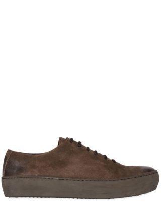 Waxed Suede Sneakers (bruin)