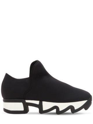 45mm Neoprene Slip-on Sneakers (zwart/wit)