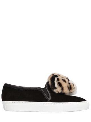 20mm Lusella Tiger Suede Sneakers (zwart)