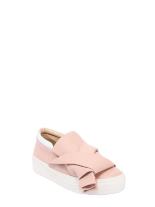 Leather Slip-on Sneakers (roze)