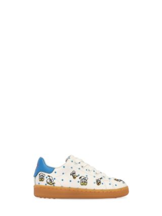 Donald Duck Embroidered Suede Sneakers (wit)