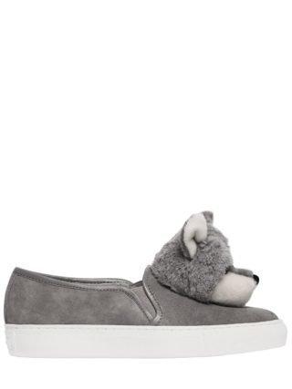 20mm Foxy Suede Slip On Sneakers (grijs)