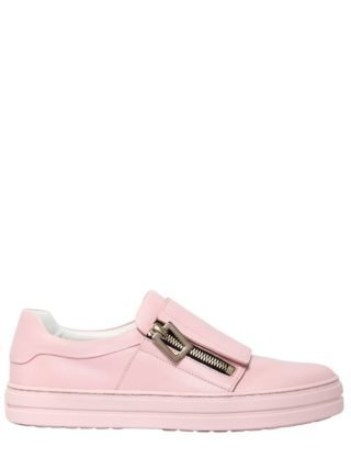 25mm Sneaky Viv Zip-up Leather Sneakers (roze)
