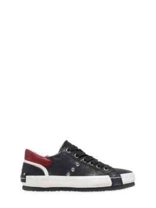 Nappa Leather Sneakers (blauw/rood)