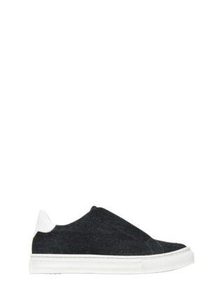 Denim Slip-on Sneakers (blauw)