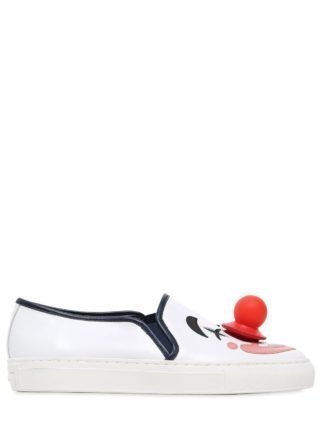 20mm Lucille Clown Leather Sneakers (wit/blauw)