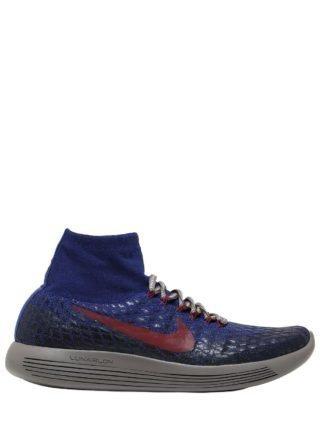 Nikelab Lunarepic Flyknit Shield Sneaker (blauw/rood)