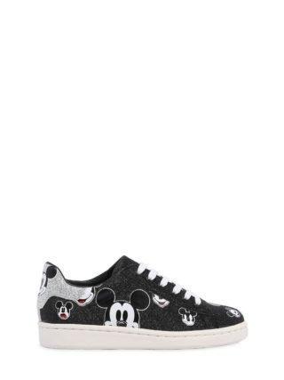 Glittered Nappa Leather Sneakers (zwart)