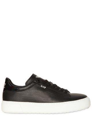 Classic Leather Platform Sneakers (zwart)