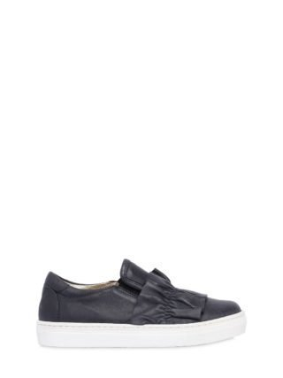 Nappa Leather Slip-on Sneakers (blauw)