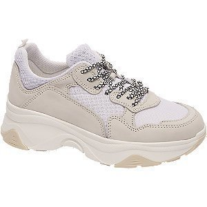 5th avenue Witte leren dad sneaker
