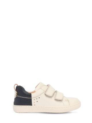 Leather Strap Sneakers (creme)