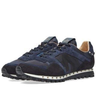 Valentino Camo Stud Sole Rockrunner Sneaker (Blue)