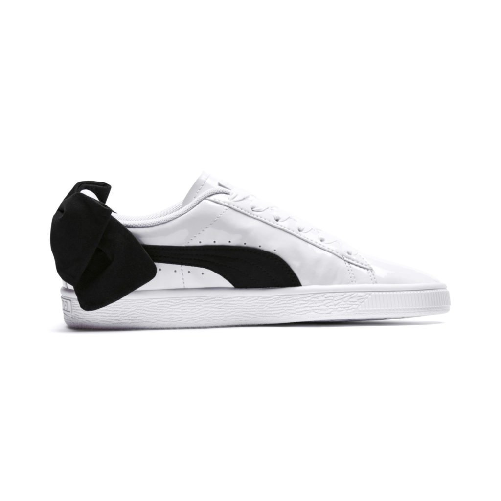 Puma Suede Bow Patent 'White/Black' (367353-03)