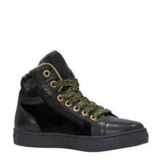 Kanjers leren sneakers zwart (meisjes) (zwart)