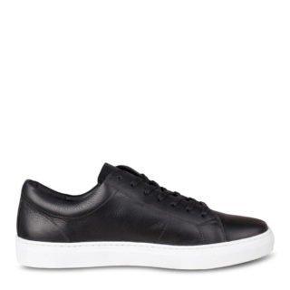 WE Fashion leren sneakers zwart (heren) (zwart)