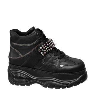 dad sneakers met sierparels zwart (dames) (zwart)