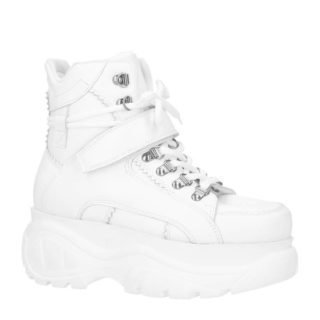 Sacha leren Chunky Dad sneakers wit (dames) (wit)