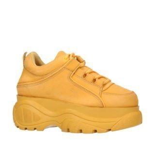 Sacha leren Chunky Dad sneakers okergeel (dames) (geel)