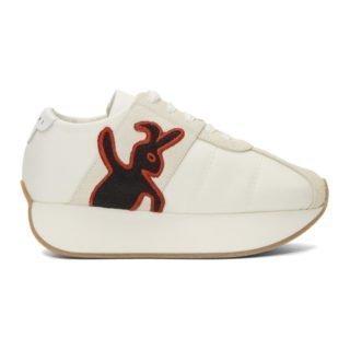 Marni Dance Bunny White Bunny Platform Sneakers