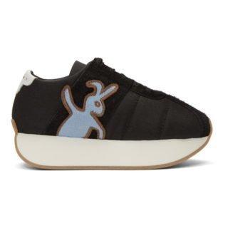 Marni Dance Bunny Black Bunny Platform Sneakers