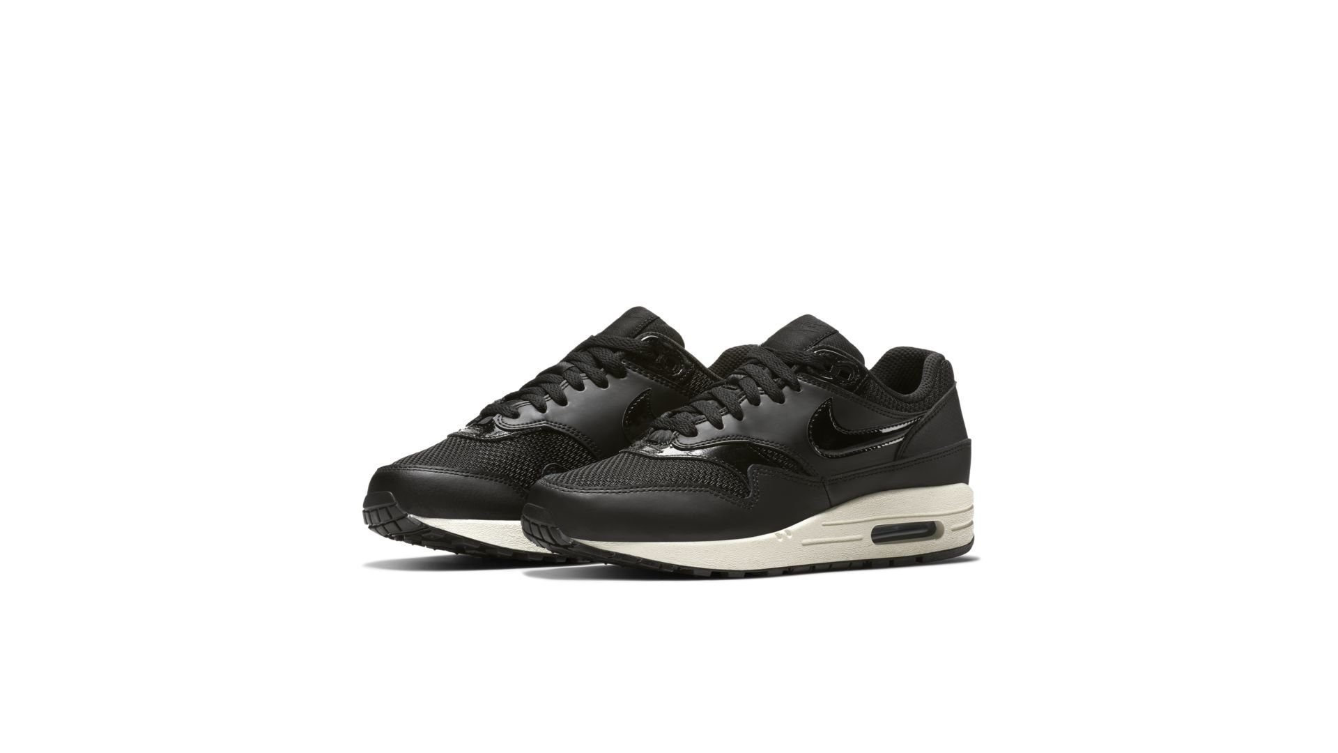 Nike WMNS Air Max 1 'Black Pattent' (319986 039)