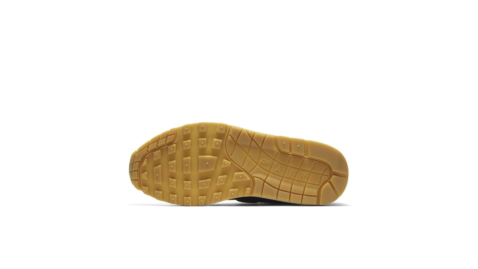 Nike Wmns Air Max 1 Premium 'Black/Gum Yellow' (454746-020)