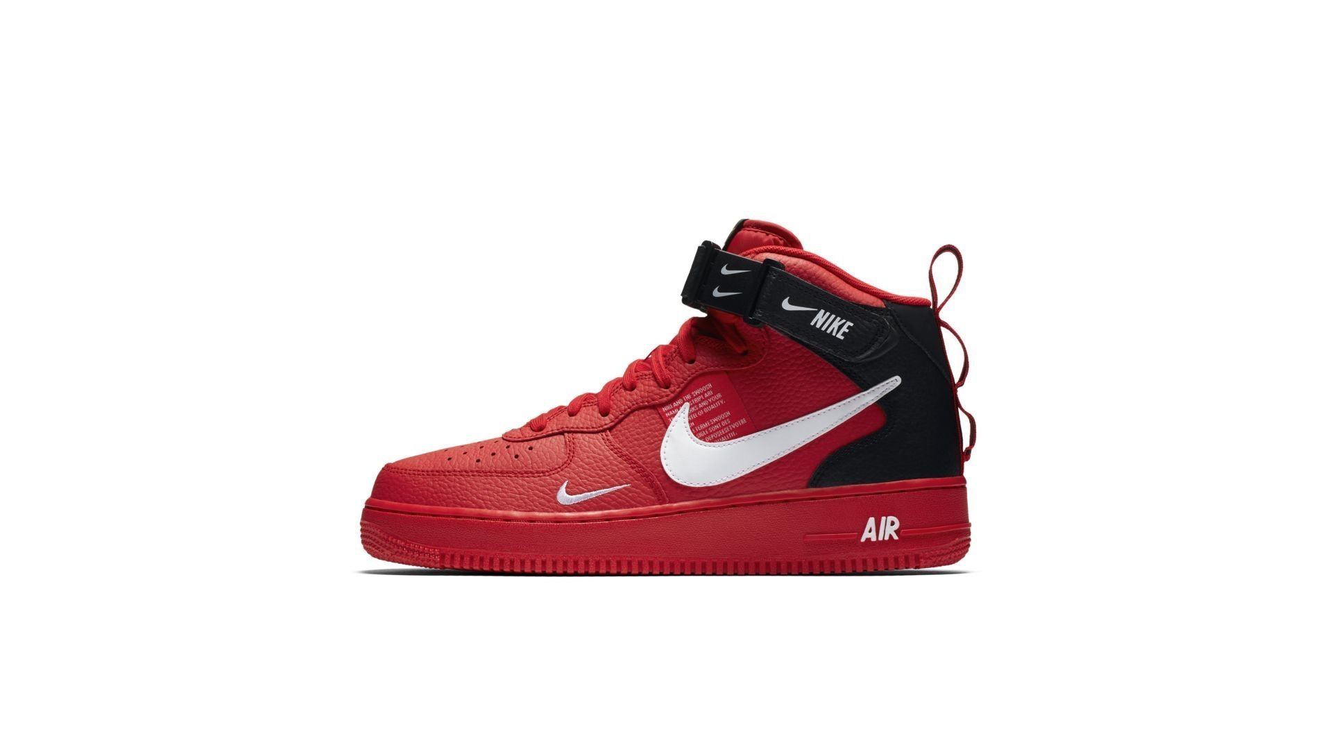 Nike Air Force 1 Mid '07 LV8 Utility 'Red' (804609-605)