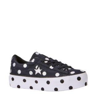 Converse One Star Platform OX sneakers (dames) (zwart)