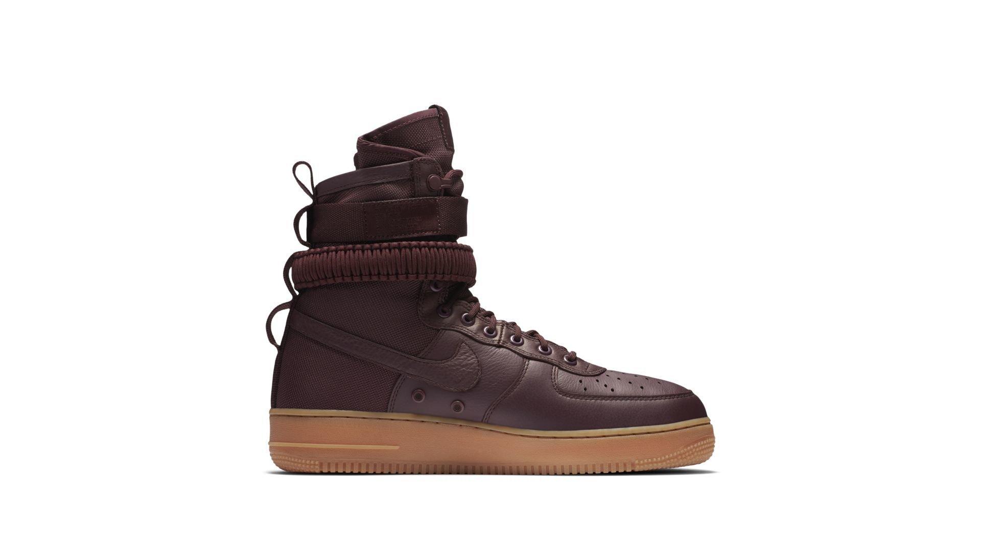 """Nike Air Force 1 SF """"Burgundy"""" (864024-600)"""