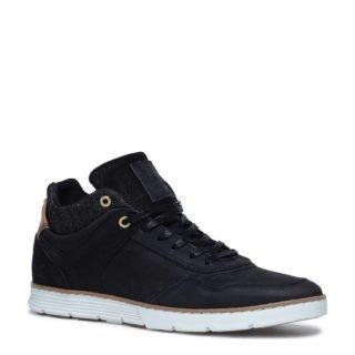 Sacha leren sneakers (heren) (zwart)