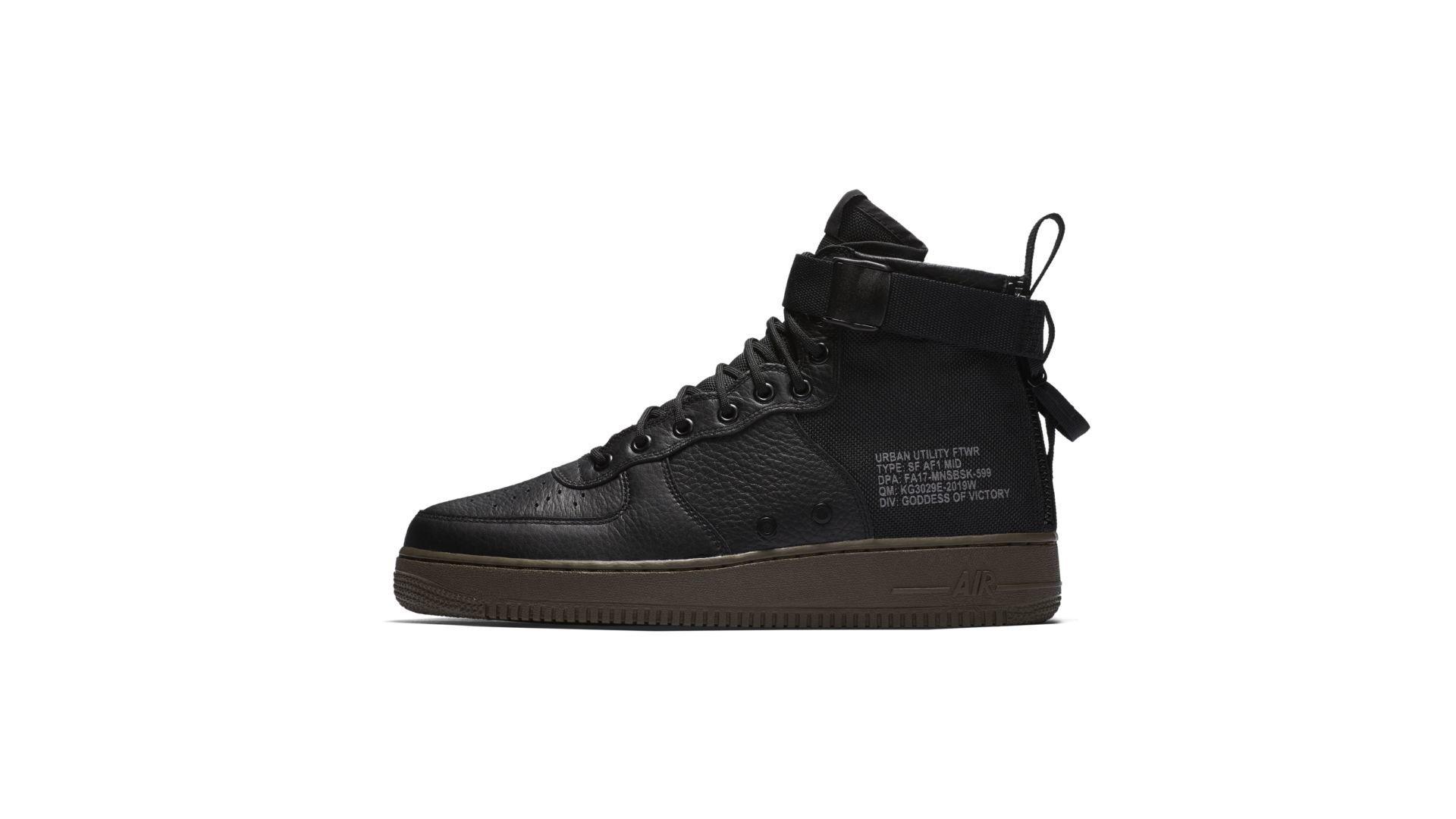 """Nike SF-AF1 Mid """"Black/Cargo Khaki"""" (917753-002)"""
