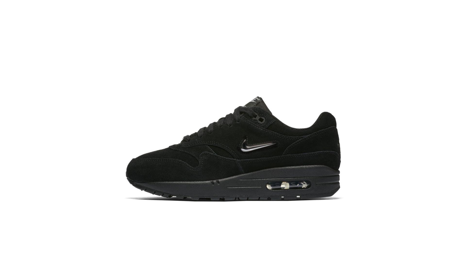 Nike Wmns Air Max 1 Premium Black/Metallic Silver (AA0512-001)