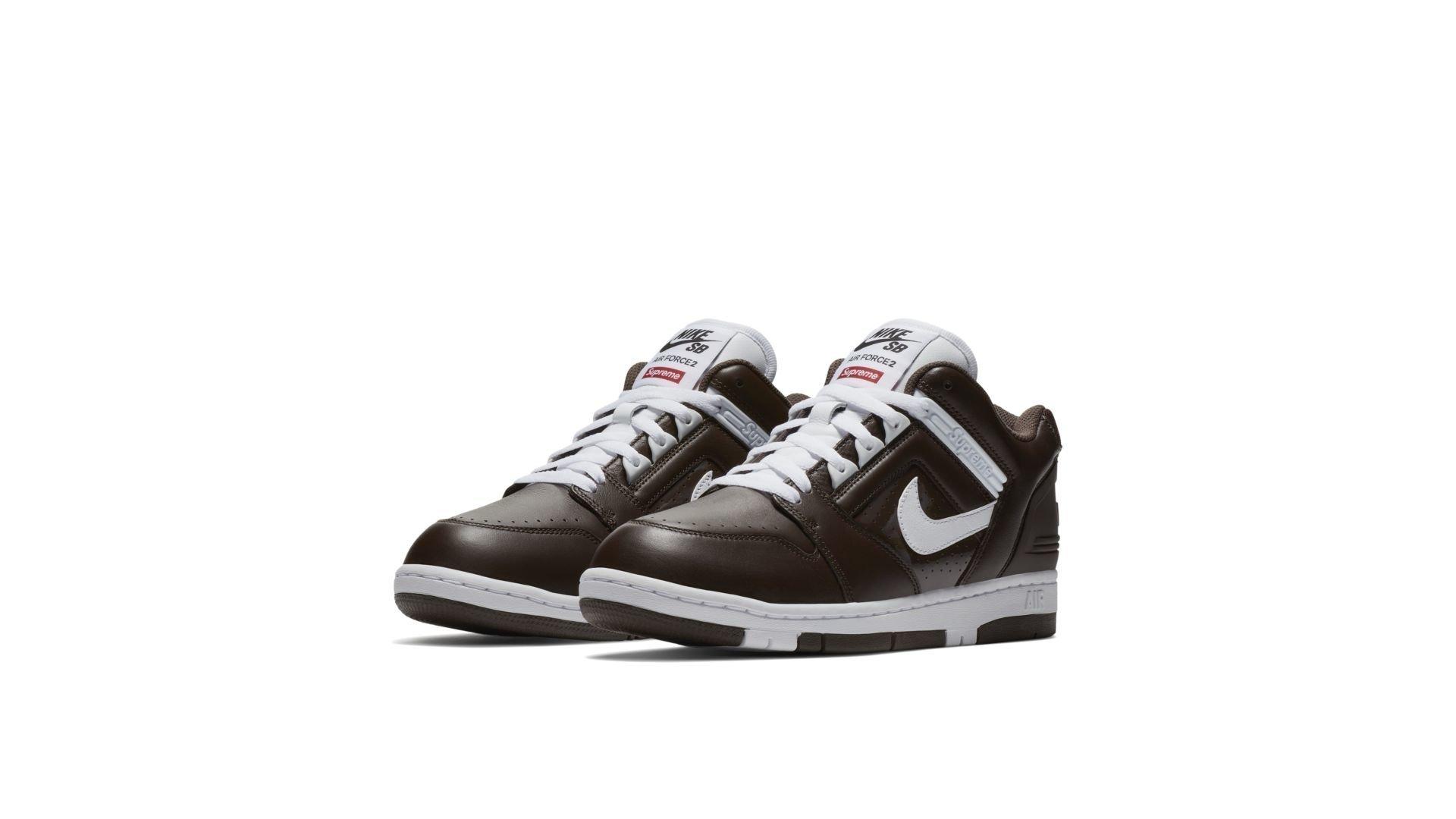 "Nike SB x Supreme Air Force 2 Low ""Brown"" (AA0871-212)"