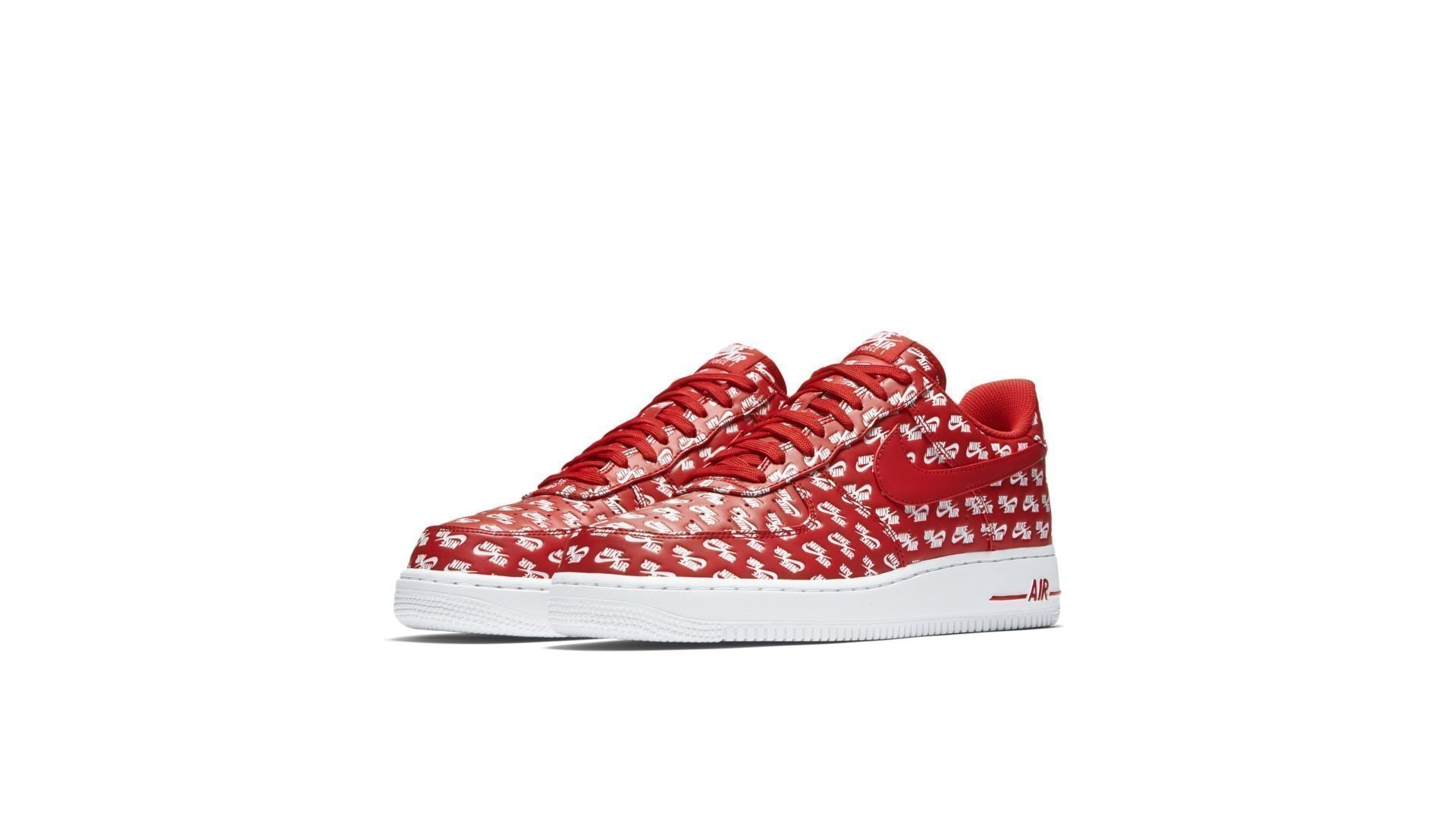 "Nike Air Force 1 '07 QS Logo Pack ""University Red"" (AH8462-600)"