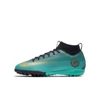 Nike Jr. MercurialX Superfly VI Academy CR7 Voetbalschoen voor kleuters/kids (turf) - Groen Groen