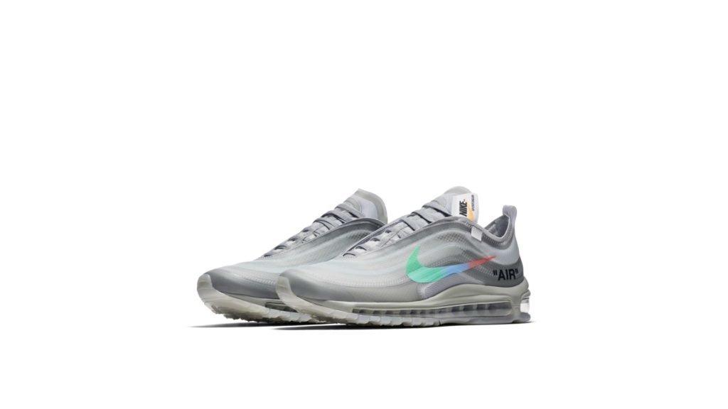 Off-White x Nike Air Max 97 'Grey Menta' (AJ4585-101)